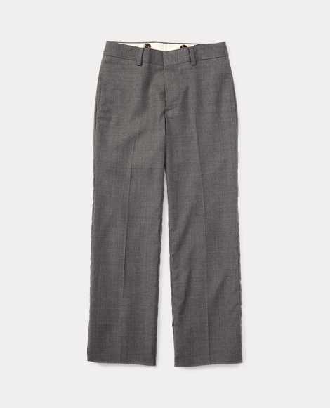 Flat-Front Wool Trouser