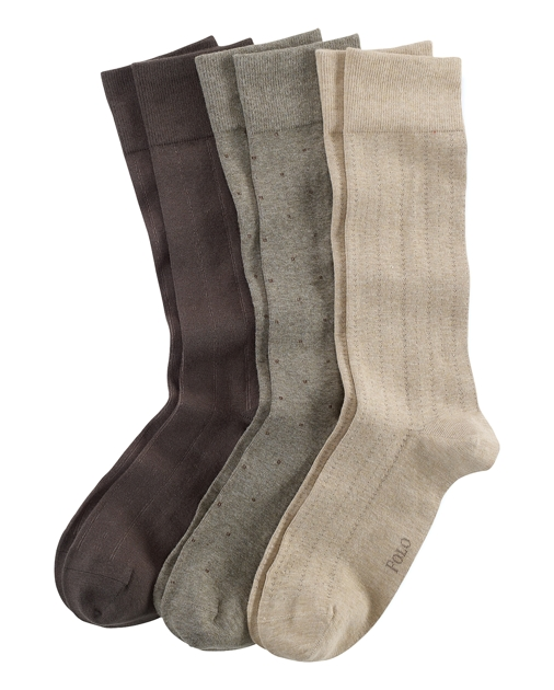 produt-image-0.0. Men Accessories Socks Assorted Patterned Sock 3-Pack.  Polo Ralph Lauren
