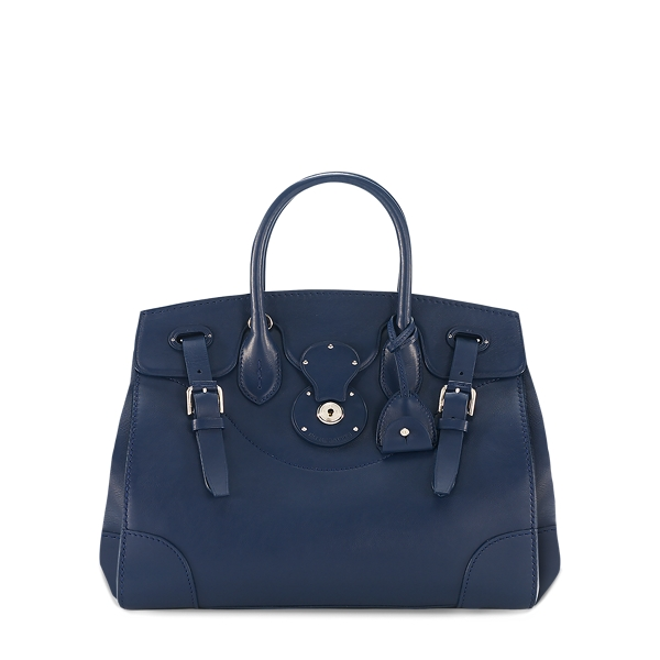 Ralph Lauren Navy Nappa Leather Soft Ricky Navy One Size
