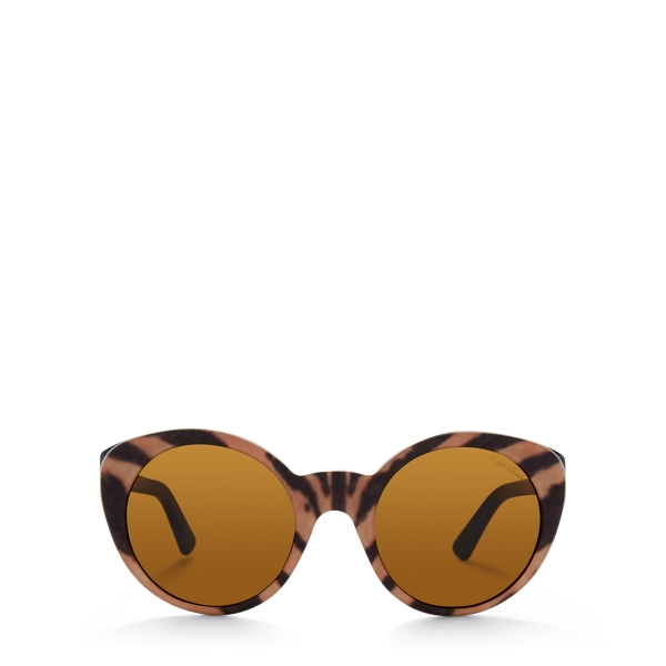 Ralph Lauren Retro Cat-Eye Sunglasses Vintage Tiger One Size