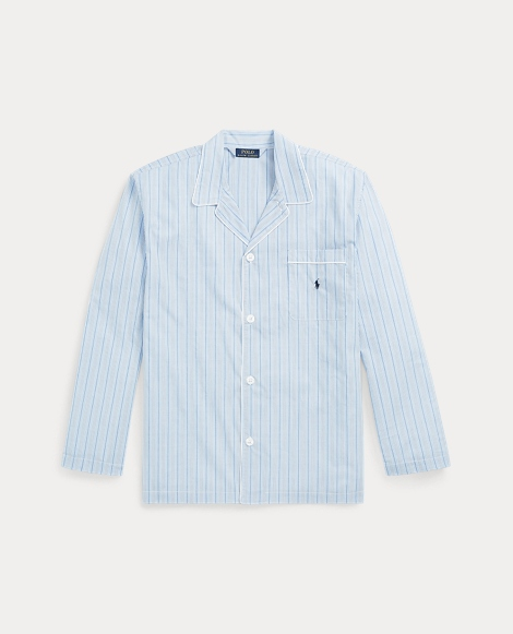 Stripe Broadcloth Pajama Shirt