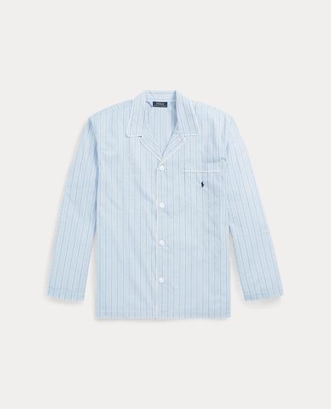 Stripe Broadcloth Pajama Shirt