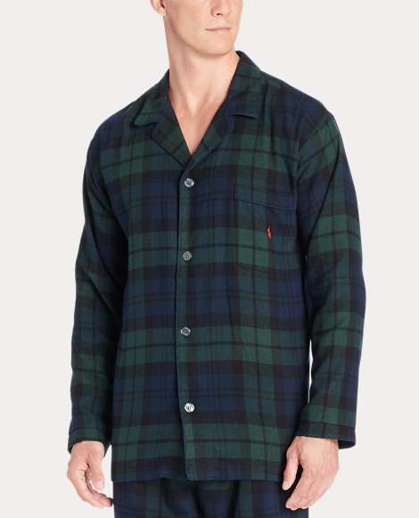 Plaid Flannel Pajama Top