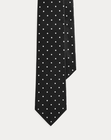 Polka-Dot Silk Satin Tie