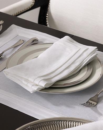 Tuxedo-Pleated Linen Napkin