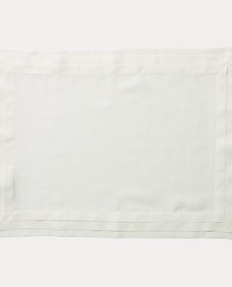 Tuxedo-Pleated Linen Place Mat