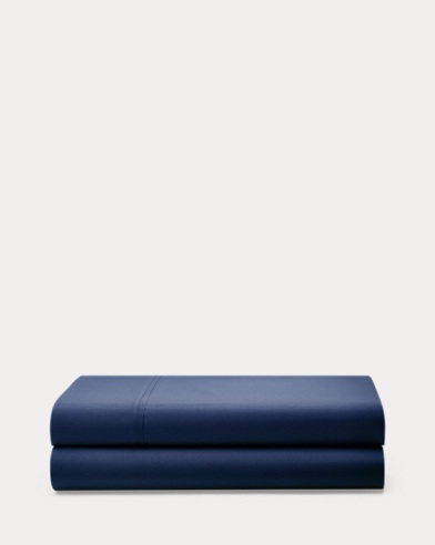Polo Navy Percale Sheeting