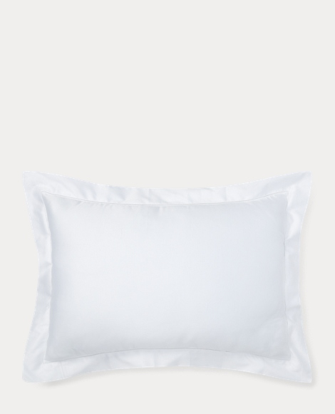 Deco White Sateen Sham