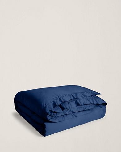 Polo Navy Sateen Duvet Cover