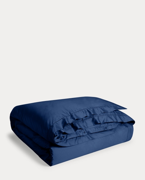 Polo Navy Sateen Duvet Cover