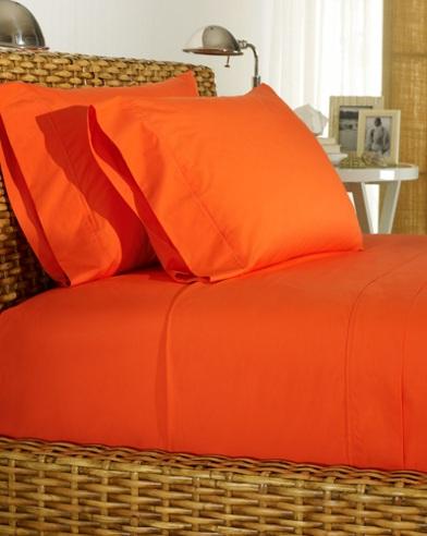 Orange Percale Sheeting
