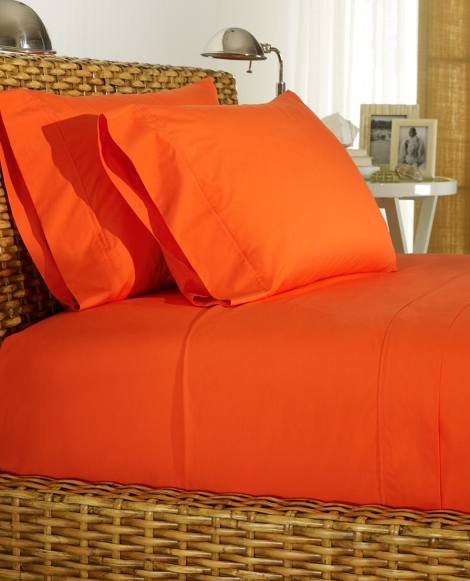 Orange Percale Sheeting