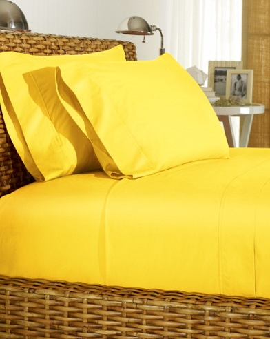Yellow Percale Sheeting