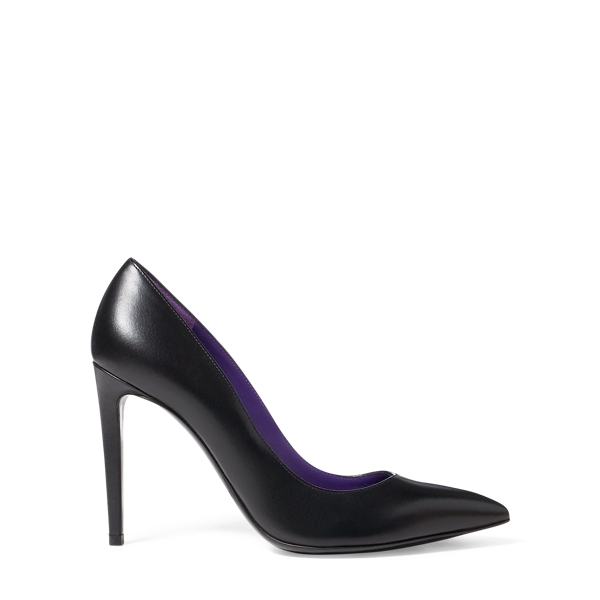 Ralph Lauren Celia Nappa Leather Pump Black 7.5