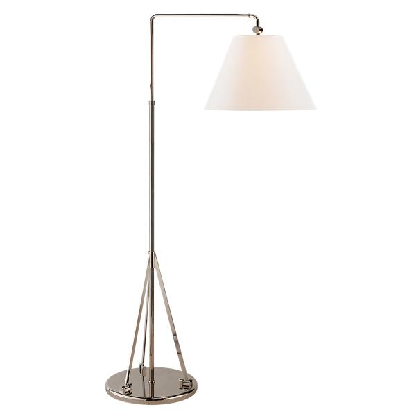 Ralph Lauren Brompton Floor Lamp Polished Nickel One Size