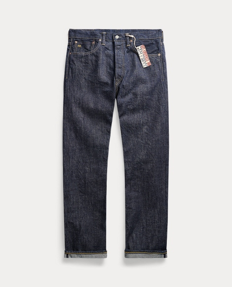 Straight Fit Once-Washed Denim