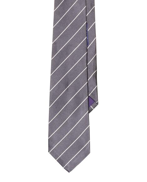 Striped Silk Satin Tie