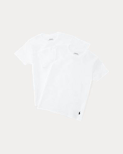 White Cotton Crewneck 2-Pack