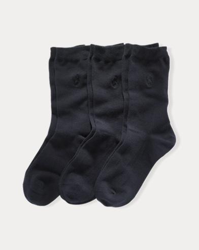 Flat Knit Crew Sock 3-Pack