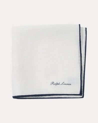 Tipped Linen Pocket Square