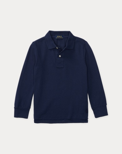 Cotton Mesh Uniform Polo Shirt