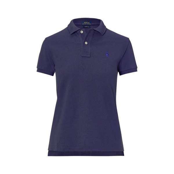 Ralph Lauren Classic Fit Mesh Polo Shirt Newport Navy Xs
