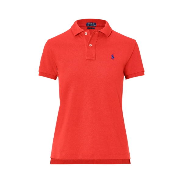 Ralph Lauren Classic Fit Mesh Polo Shirt Rl 2000 Red Xs
