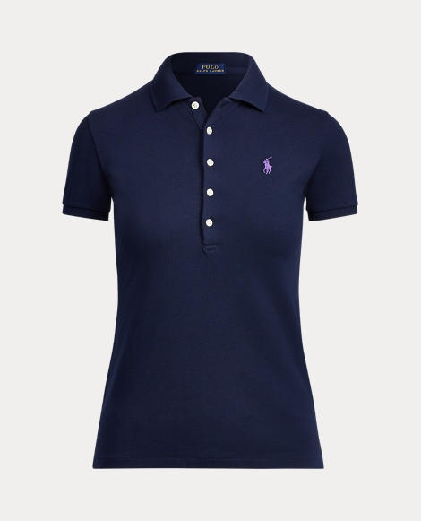 Skinny Fit Stretch Mesh Polo