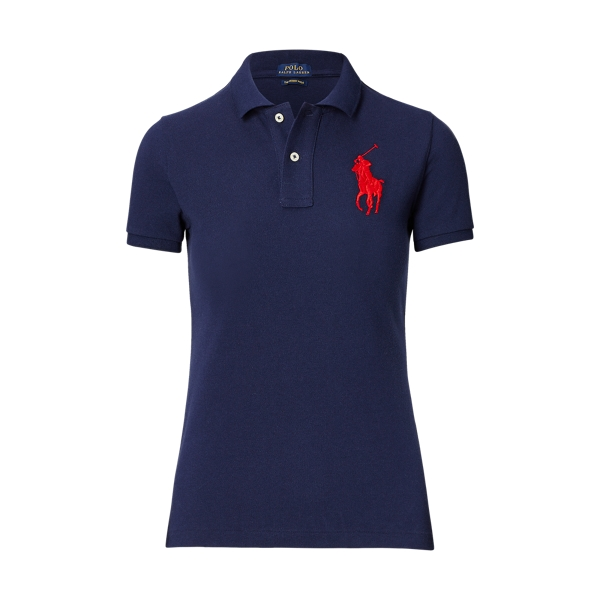 Ralph Lauren Skinny Fit Big Pony Polo Shirt Newport Navy Xs