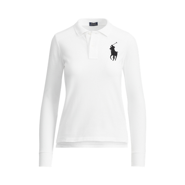Ralph Lauren Skinny Fit Big Pony Polo White S