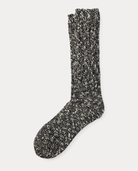 Cotton-Blend Ragg Crew Socks