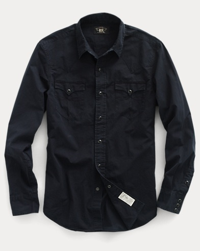Slim Cotton Western Shirt