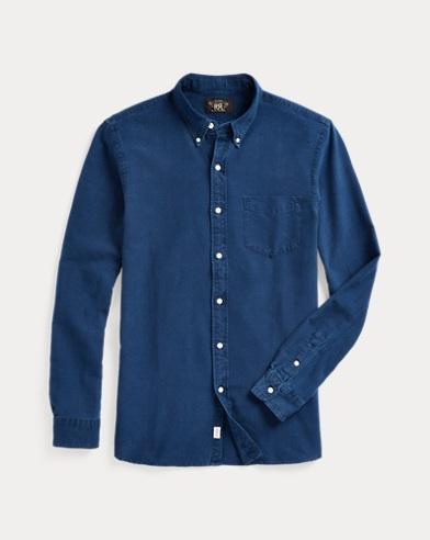 Indigo Cotton Oxford Shirt