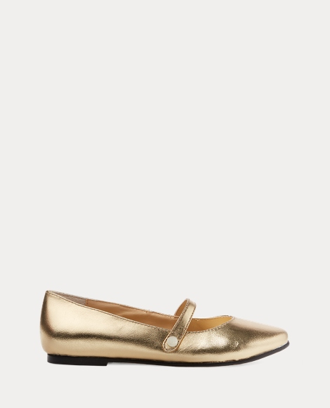 Alyssa Leather Mary Jane Flat