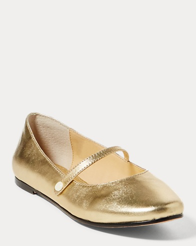 Alyssa Leather Mary Jane Flat