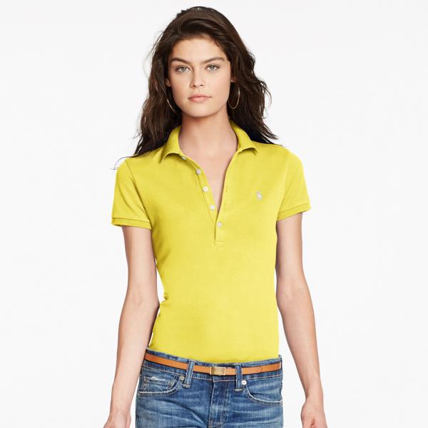 Ralph Lauren Women's Polo Shirt Fall Gold Xs