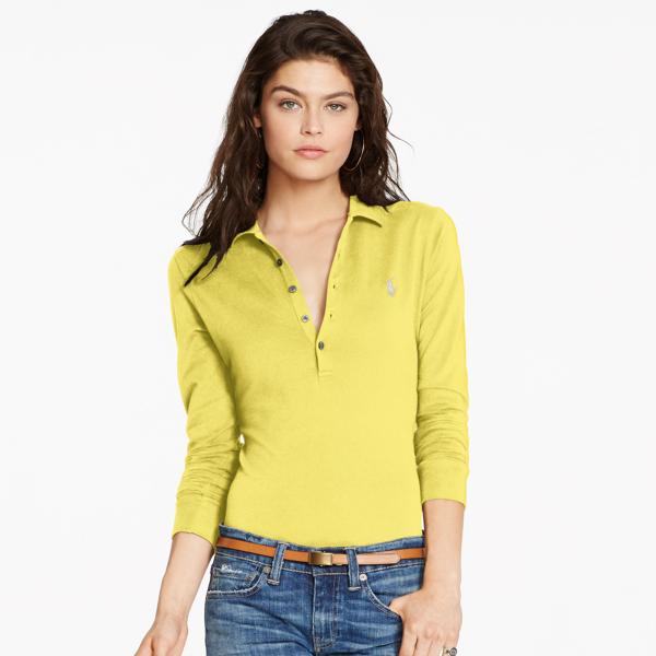 Ralph Lauren Women's Polo Shirt Fall Gold M