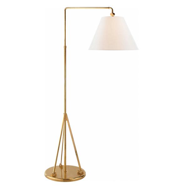 Ralph Lauren Brompton Floor Lamp Natural Brass One Size
