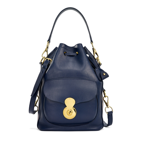 Ralph Lauren Nappa Ricky Drawstring Bag Cadet Blue One Size