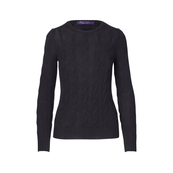 Ralph Lauren Cable-Knit Cashmere Sweater Black S