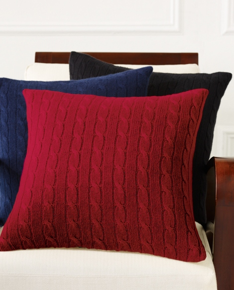 Cabled Cashmere Throw Pillow
