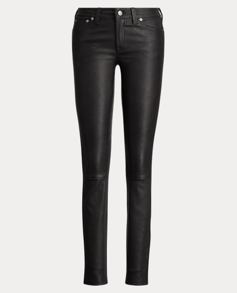 Stretch-Leather 5-Pocket Pant