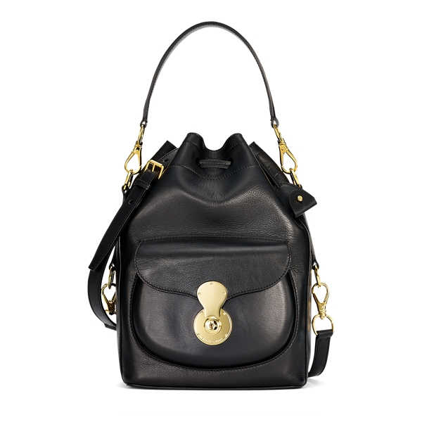 Ralph Lauren Nappa Ricky Drawstring Bag Black One Size