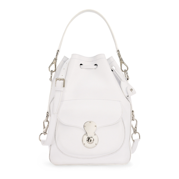 Ralph Lauren Nappa Ricky Drawstring Bag White One Size