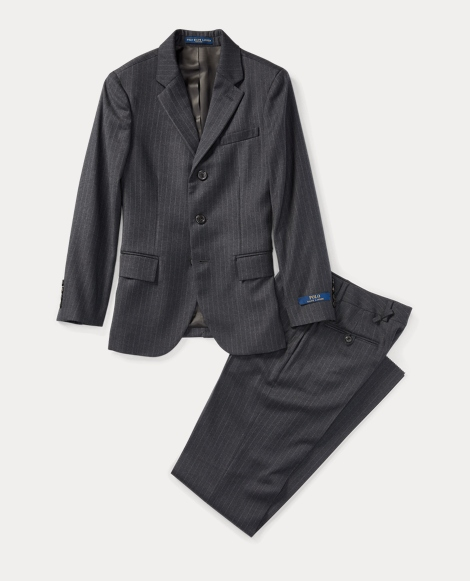 Polo II Pinstriped Wool Suit