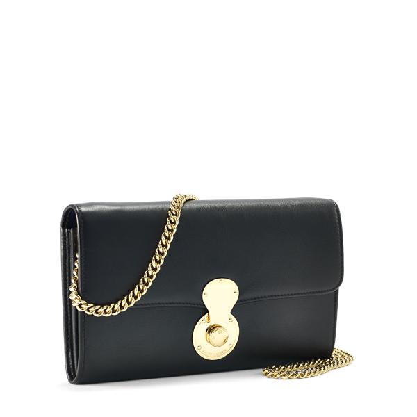 Ralph Lauren Soft Ricky Chain Wallet Black/Gold One Size