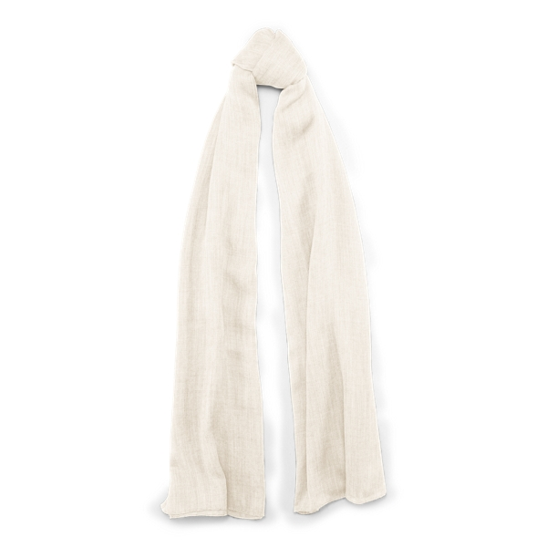 Ralph Lauren Cash Sf-Oblong Scarf-Cashmere Cream One Size