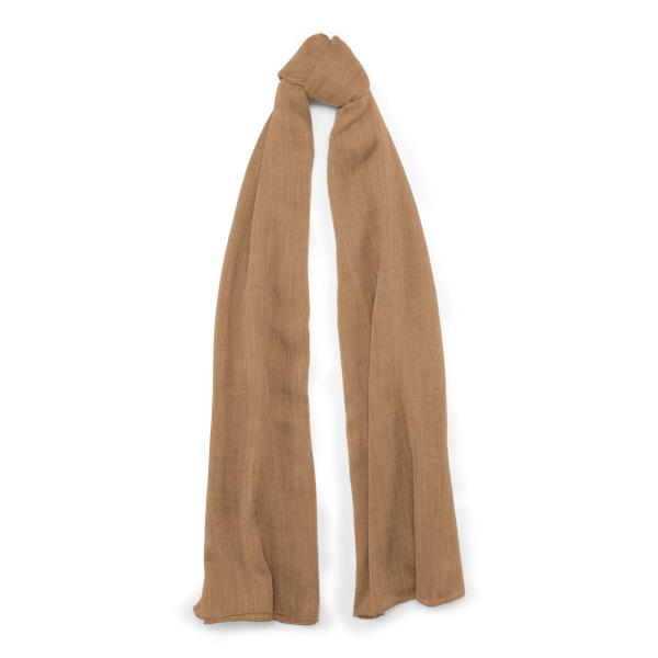 Ralph Lauren Cash Sf-Oblong Scarf-Cashmere Camel One Size