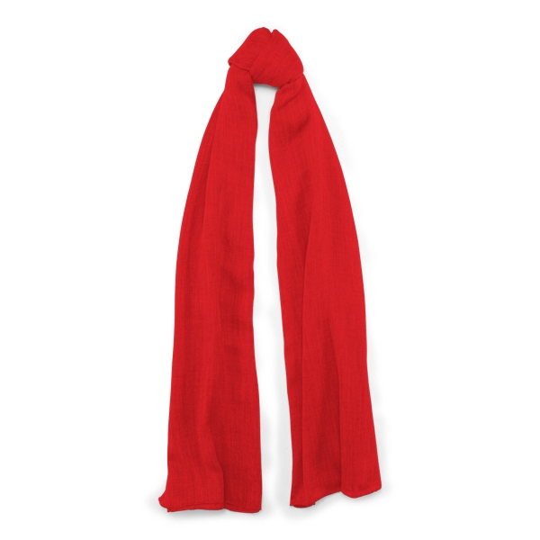 Ralph Lauren Cash Sf-Oblong Scarf-Cashmere Red One Size