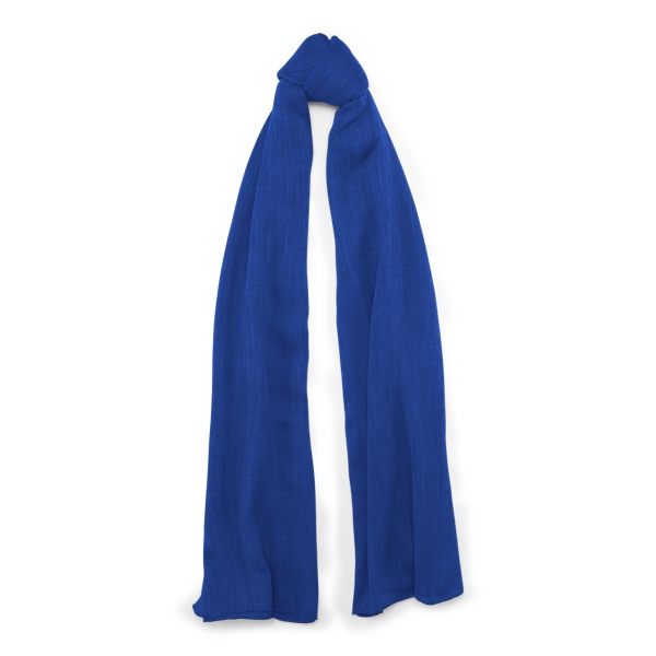 Ralph Lauren Cash Sf-Oblong Scarf-Cashmere Royal One Size